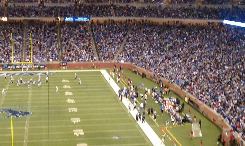 Seating view for Ford Field Section 318 Row 14 Seat 21