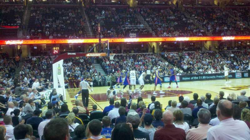 Seating view for Quicken Loans Arena Section 107 Row 8 Seat 8