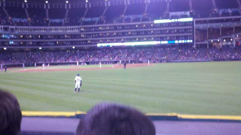 Seating view for Progressive Field Section 109 Row B