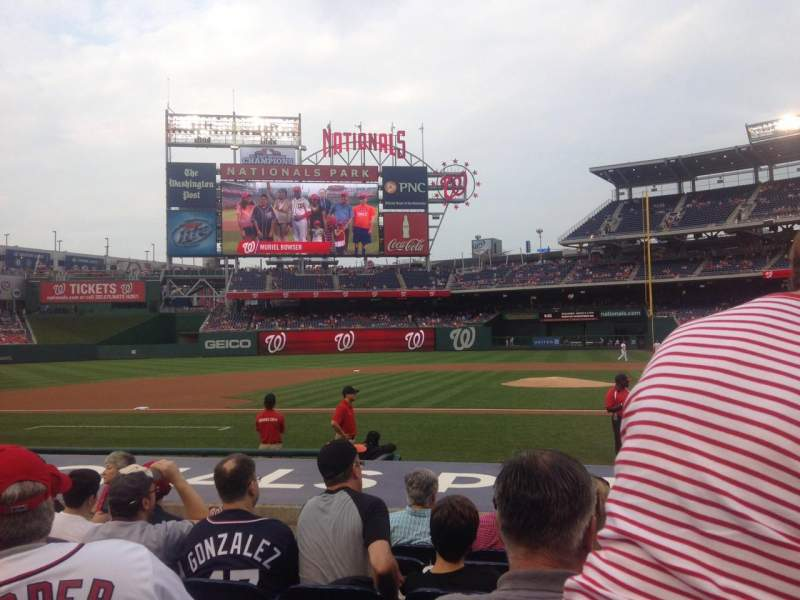 Seating view for Nationals Park Section 117 Row K Seat 8