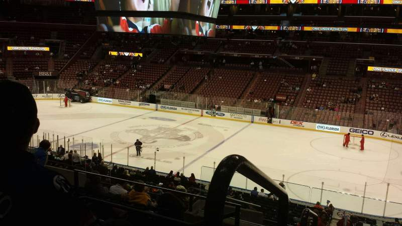 Seating view for BB&T Center Section 115 Row 28 Seat 21