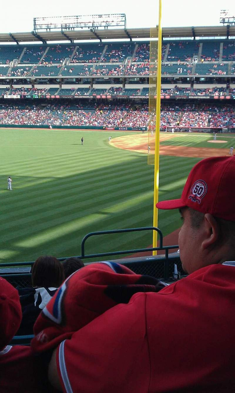 Seating view for Angel Stadium Section C302 Row F Seat 12