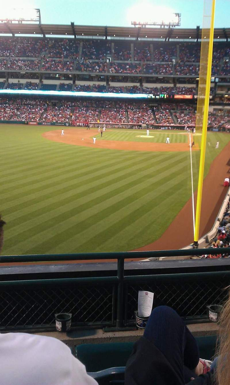Seating view for Angel Stadium Section C301 Row c Seat 8
