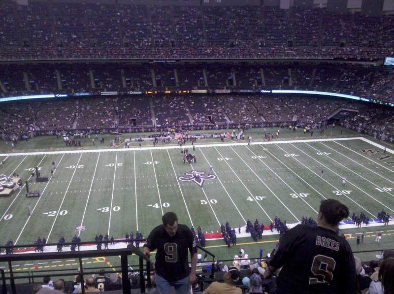 Seating view for Mercedes-Benz Superdome Section 615 Row 13 Seat 18