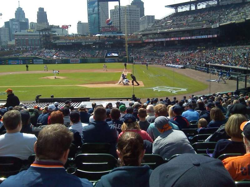 Seating view for Comerica Park Section 131 Row 24 Seat 7-8