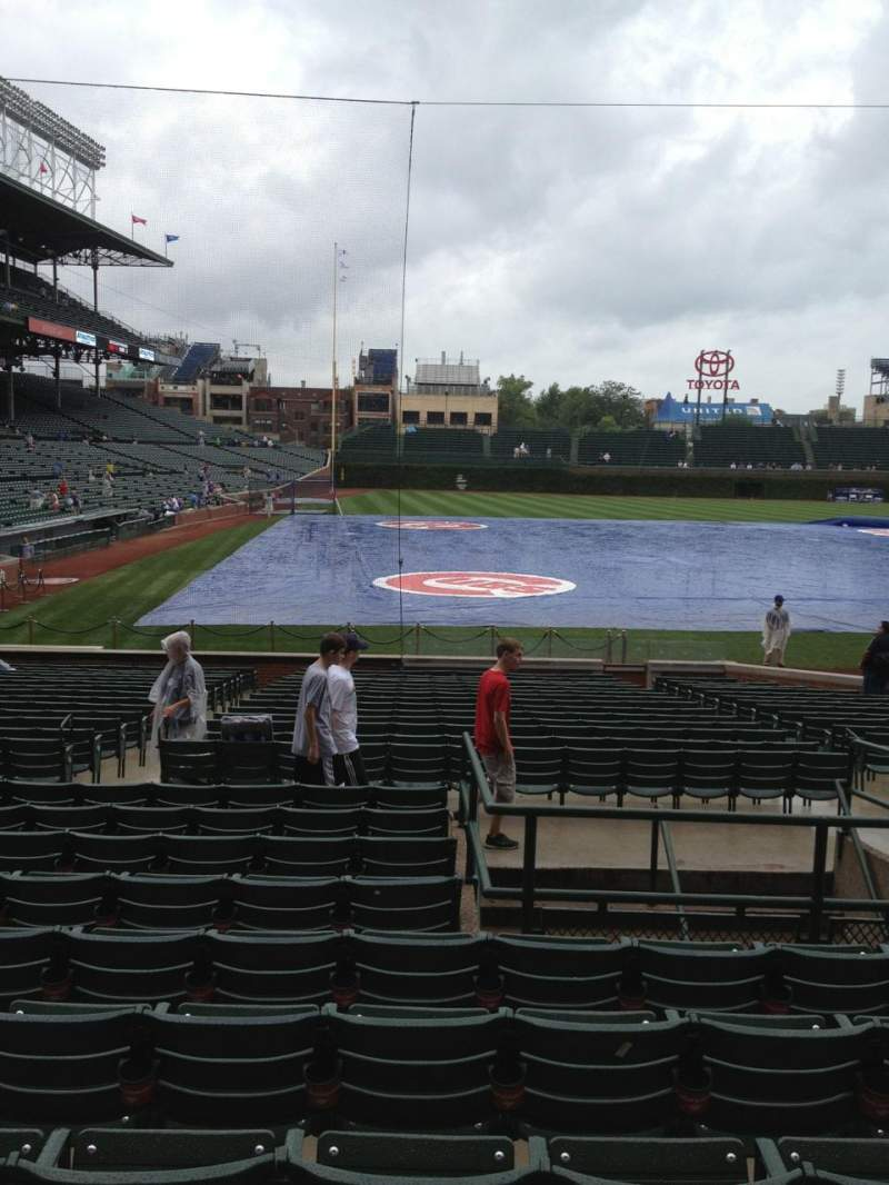 Seating view for Wrigley Field Section 126 Row 10 Seat 107