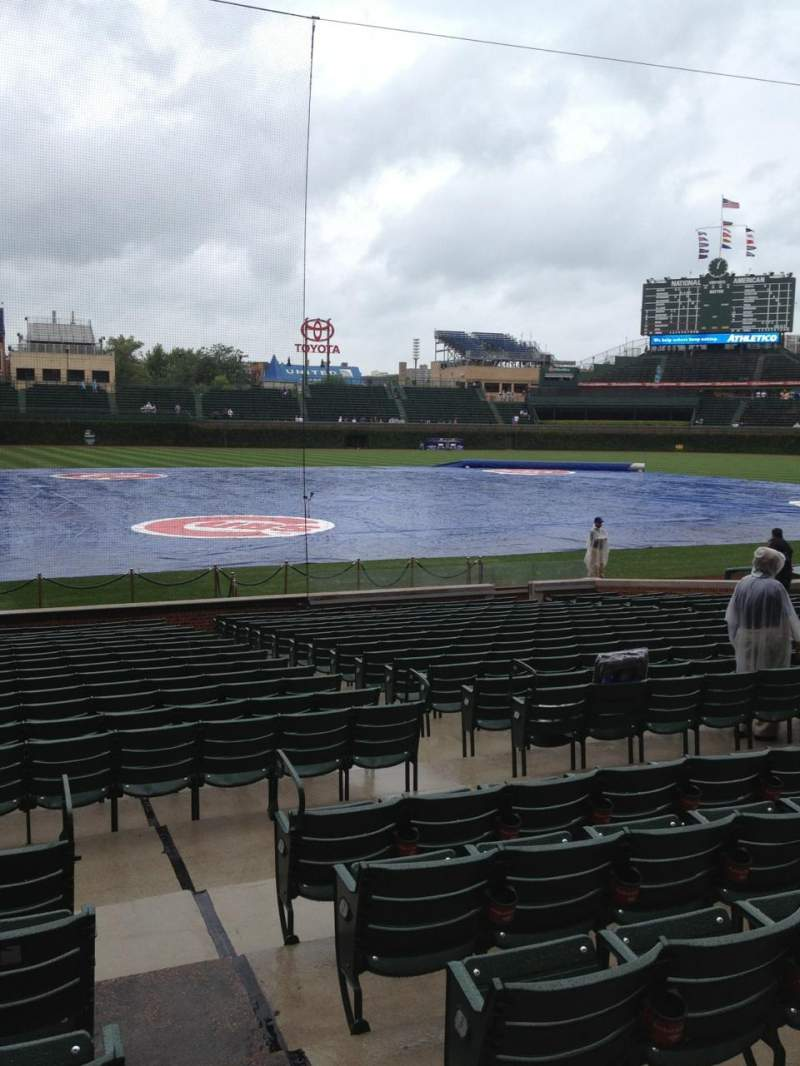 Seating view for Wrigley Field Section 124 Row 6 Seat 103