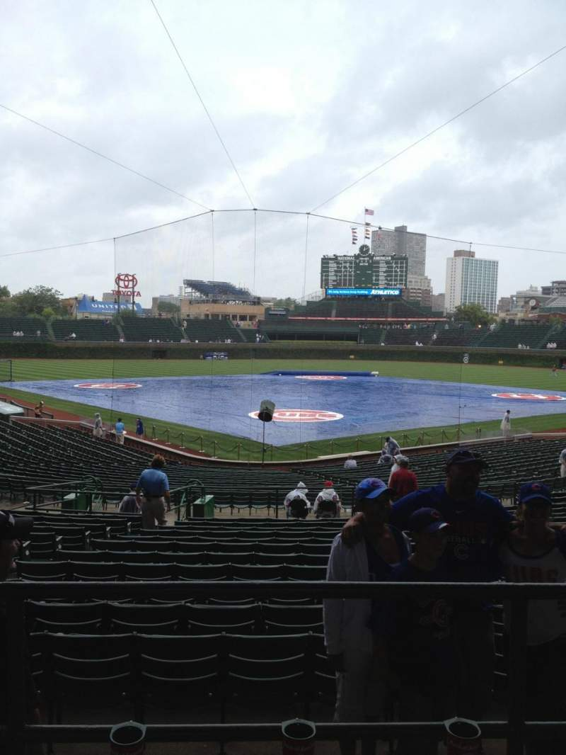 Seating view for Wrigley Field Section 222 Row 3 Seat 106