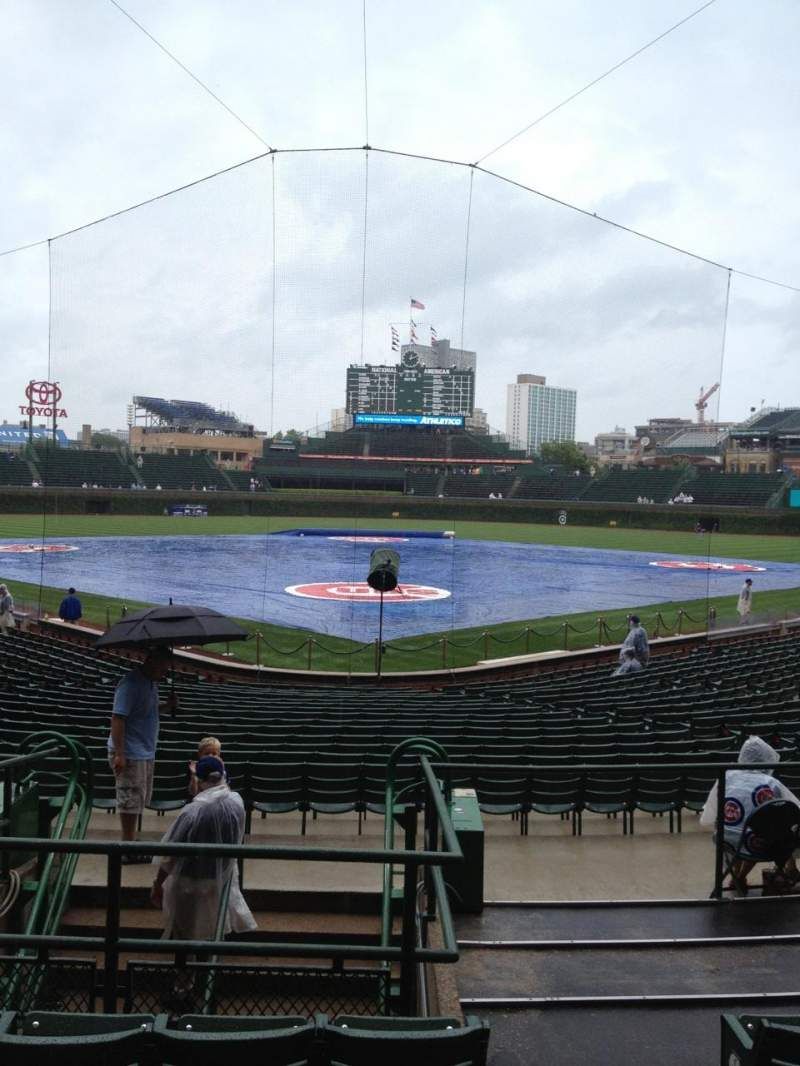 Seating view for Wrigley Field Section 121 Row 9 Seat 101
