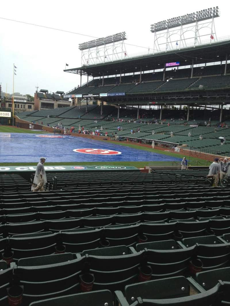 Seating view for Wrigley Field Section 114 Row 12 Seat 1