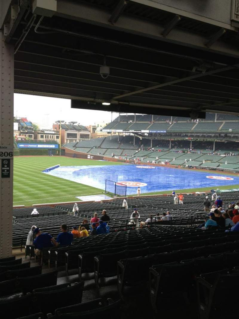 Seating view for Wrigley Field Section 206 Row 16 Seat 103