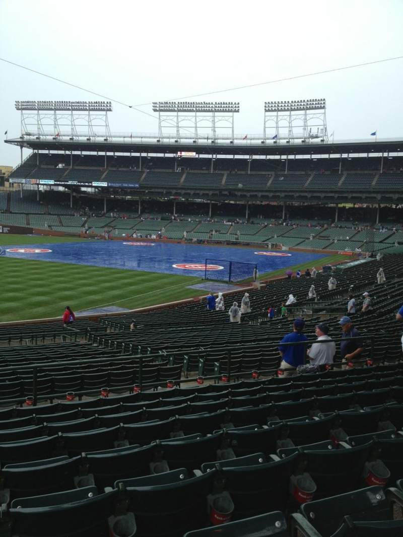 Seating view for Wrigley Field Section 205 Row 9 Seat 10