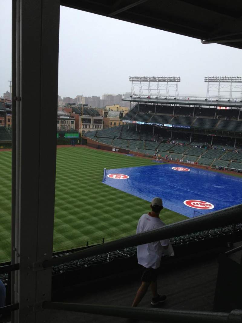 Seating view for Wrigley Field Section 503 Row 3 Seat 108