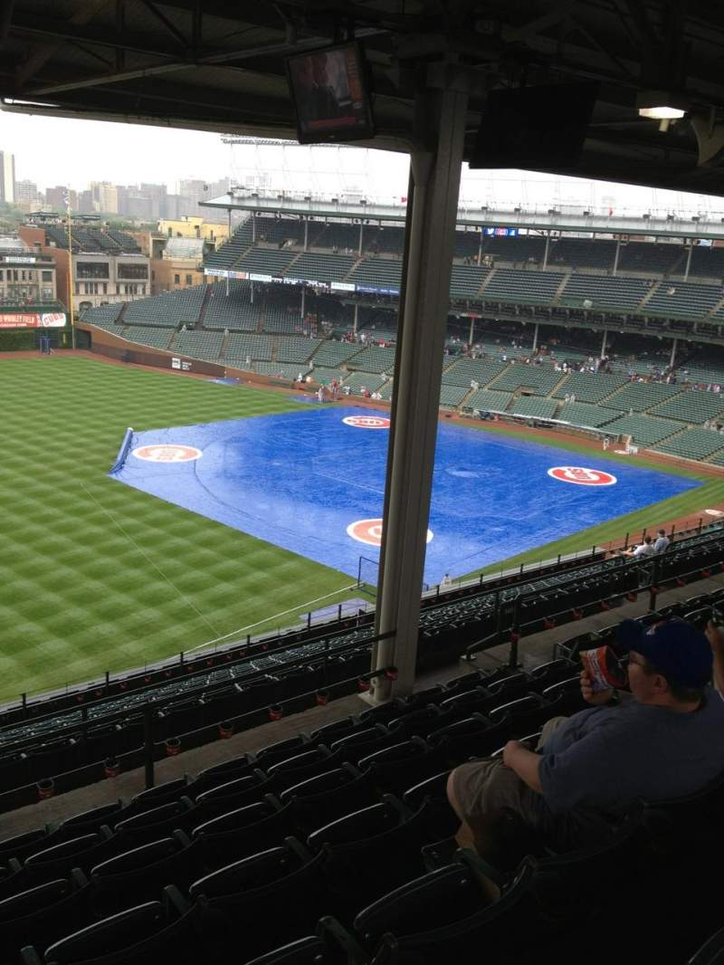 Seating view for Wrigley Field Section 405L Row 7 Seat 8