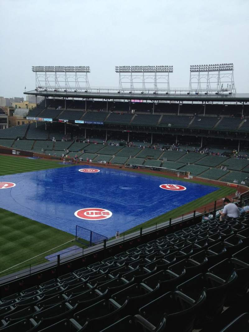 Seating view for Wrigley Field Section 406 Row 9 Seat 101