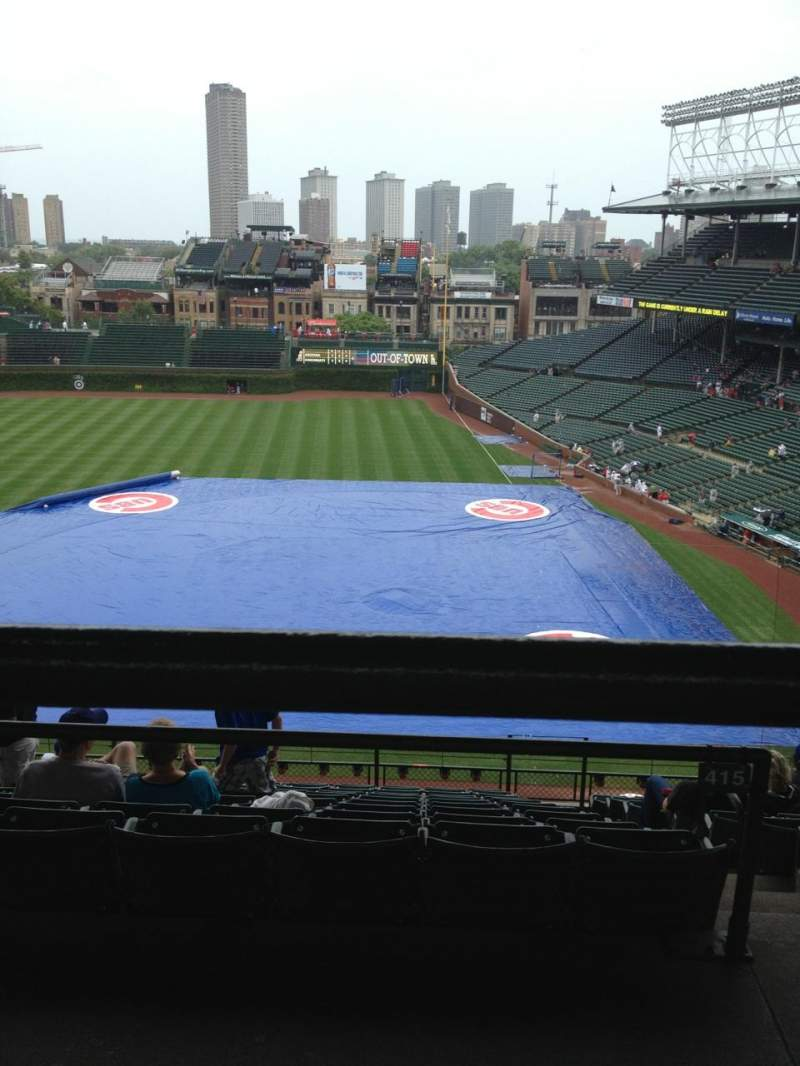 Seating view for Wrigley Field Section 412L Row 1 Seat 8
