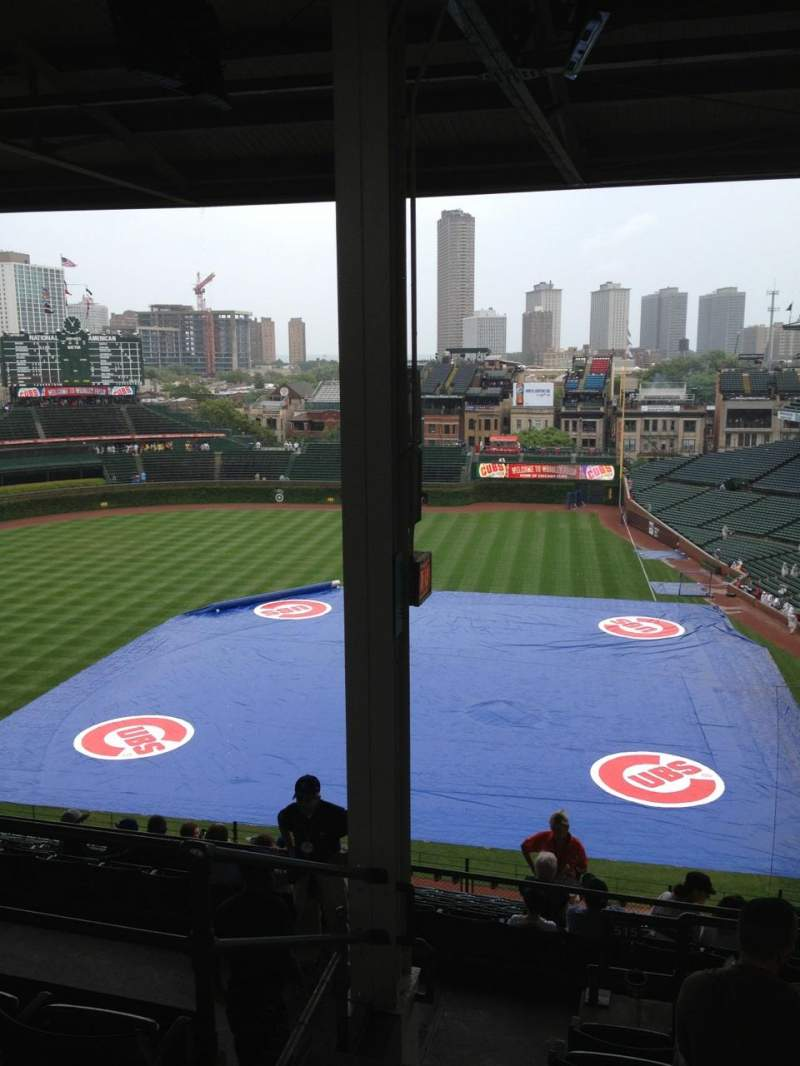 Seating view for Wrigley Field Section 515 Row 6 Seat 1