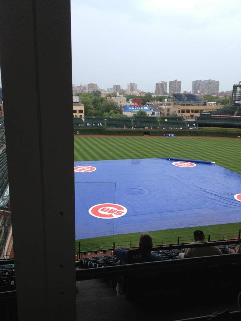 Seating view for Wrigley Field Section 421R Row 2 Seat 1