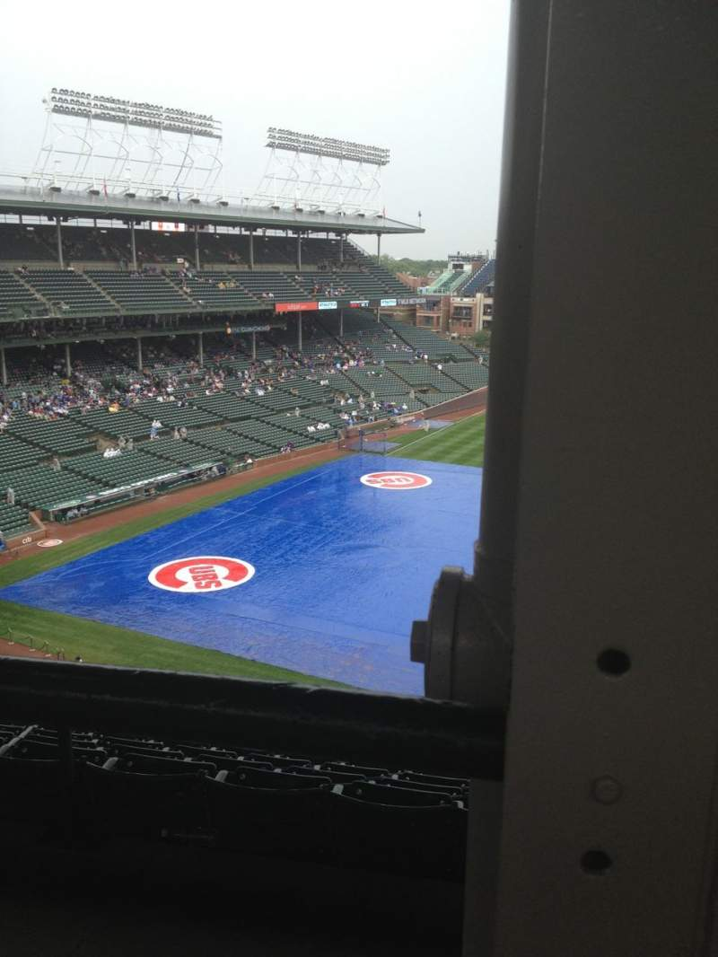 Seating view for Wrigley Field Section 529 Row 1 Seat 101