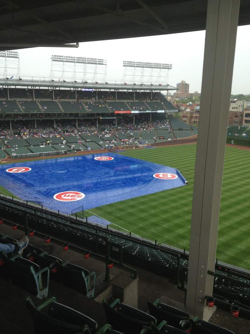 Seating view for Wrigley Field Section 538 Row 5 Seat 4