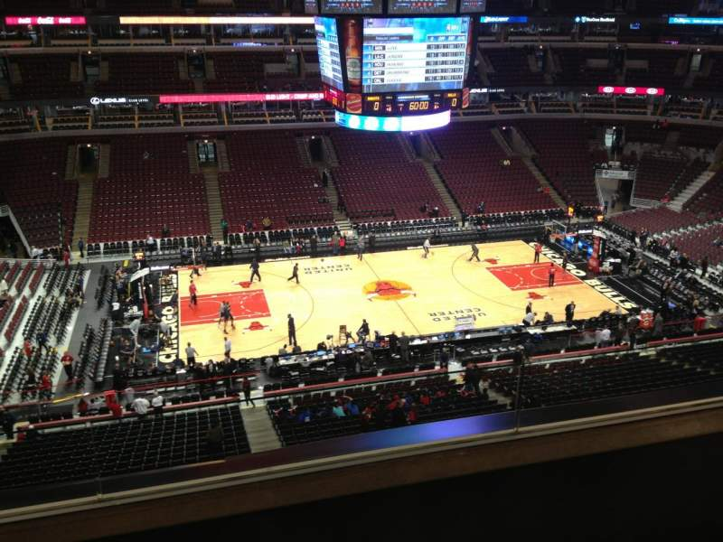 Seating view for United Center Section 302 Row 3 Seat 1