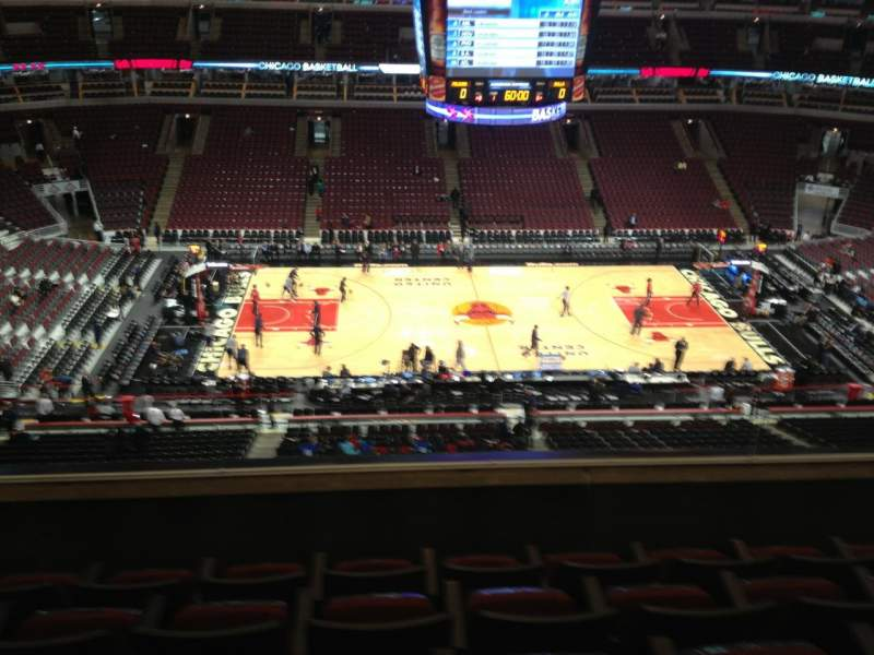 Seating view for United Center Section 302 Row 5 Seat 10
