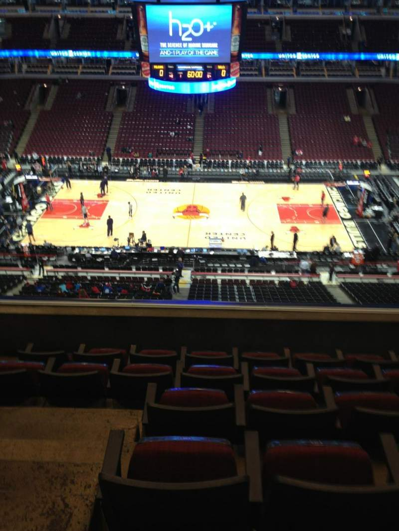 Seating view for United Center Section 334 Row 6 Seat 14