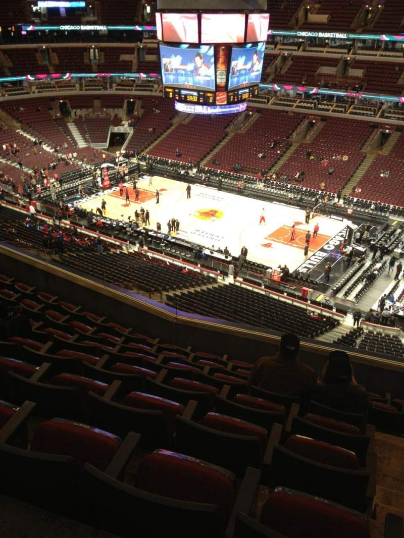 Seating view for United Center Section 332 Row 8 Seat 1