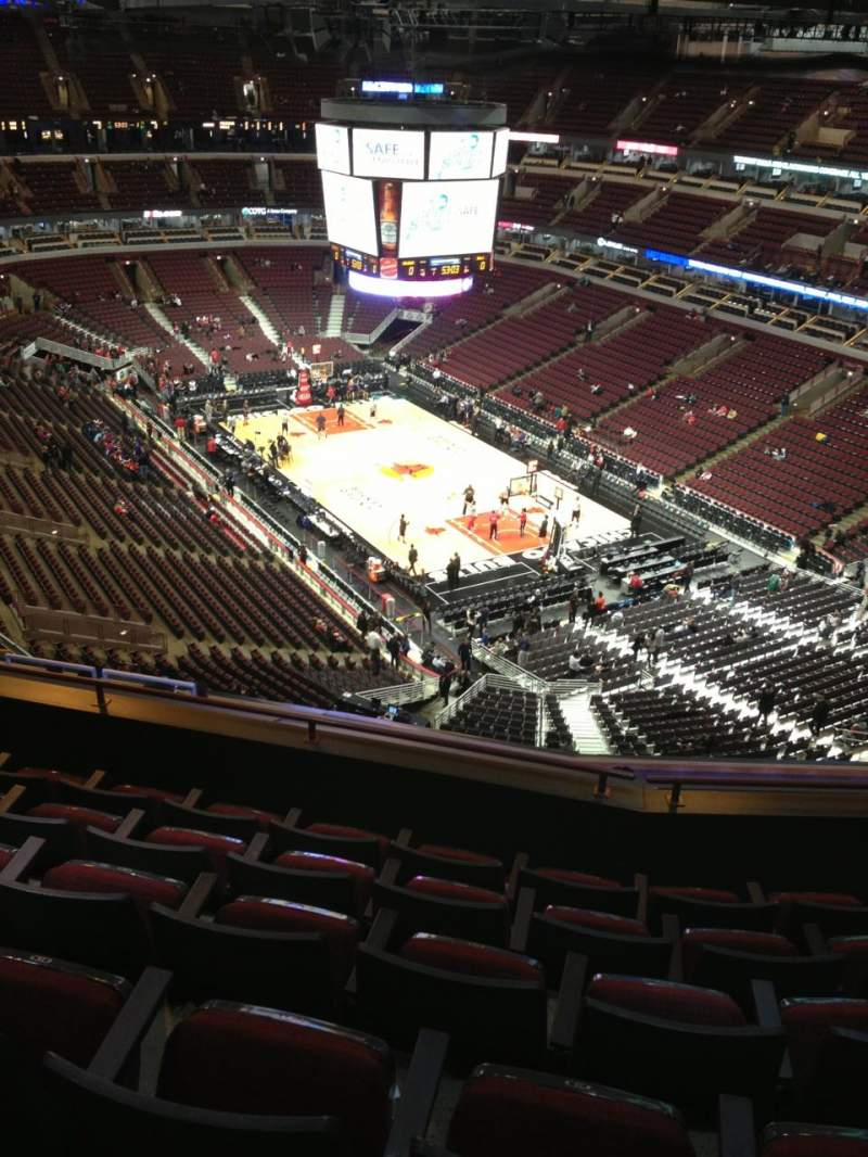 Seating view for United Center Section 329 Row 13 Seat 13