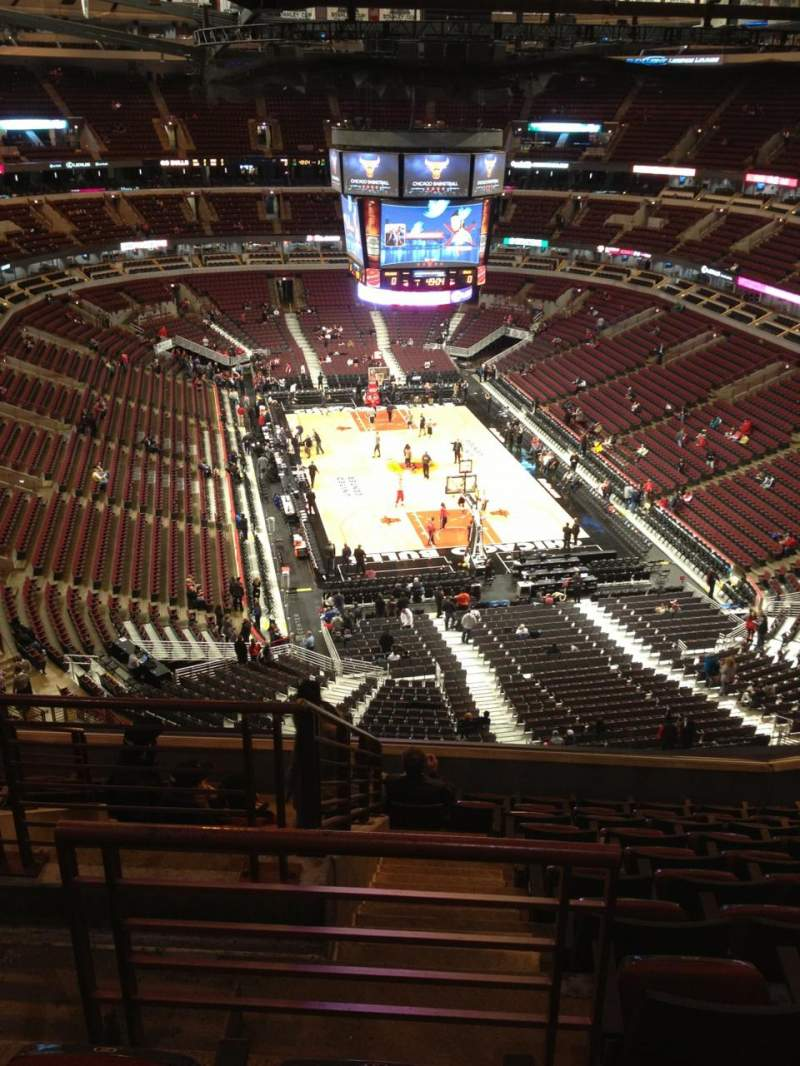 Seating view for United Center Section 327 Row 11 Seat 20
