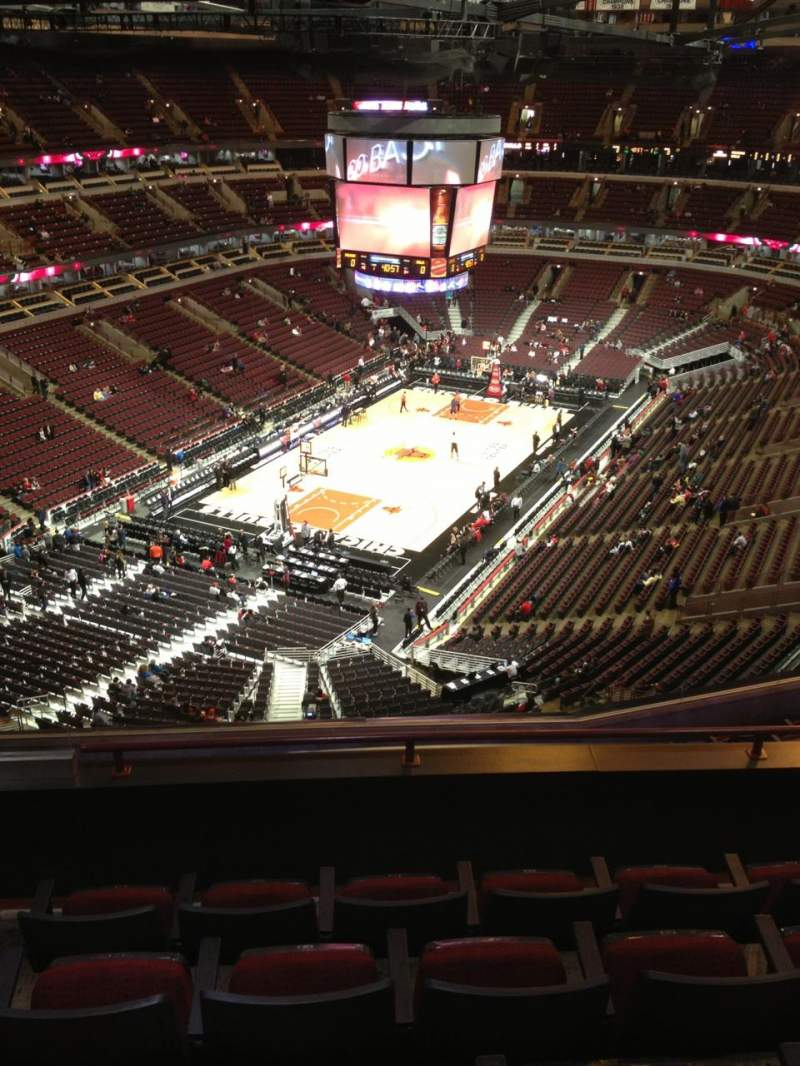 Seating view for United Center Section 323 Row 12 Seat 20