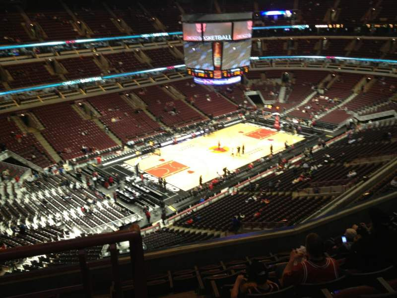 Seating view for United Center Section 321 Row 9 Seat 20