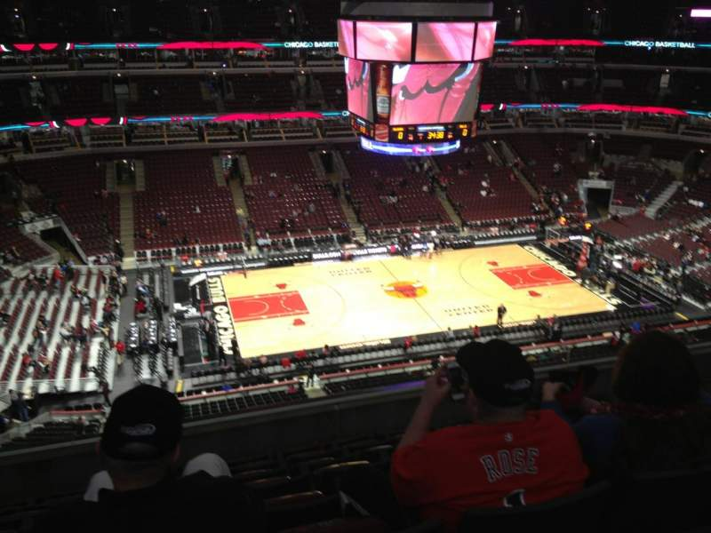 Seating view for United Center Section 319 Row 8 Seat 11
