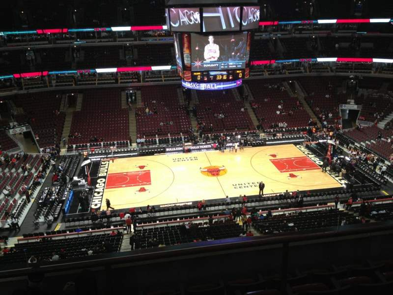 Seating view for United Center Section 318 Row 6 Seat 14