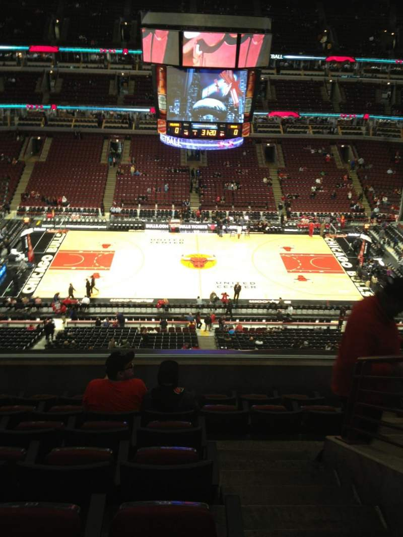 Seating view for United Center Section 318 Row 7 Seat 1