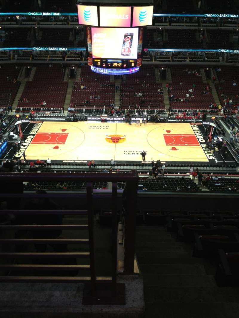 Seating view for United Center Section 317 Row 9 Seat 23