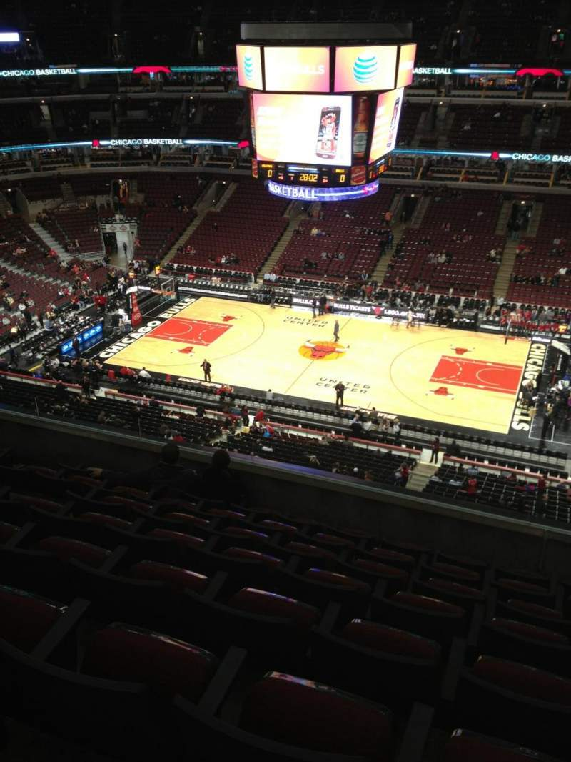 Seating view for United Center Section 316 Row 8 Seat 8