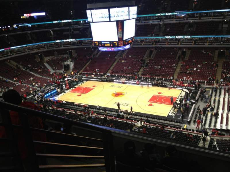 Seating view for United Center Section 315 Row 6 Seat 14
