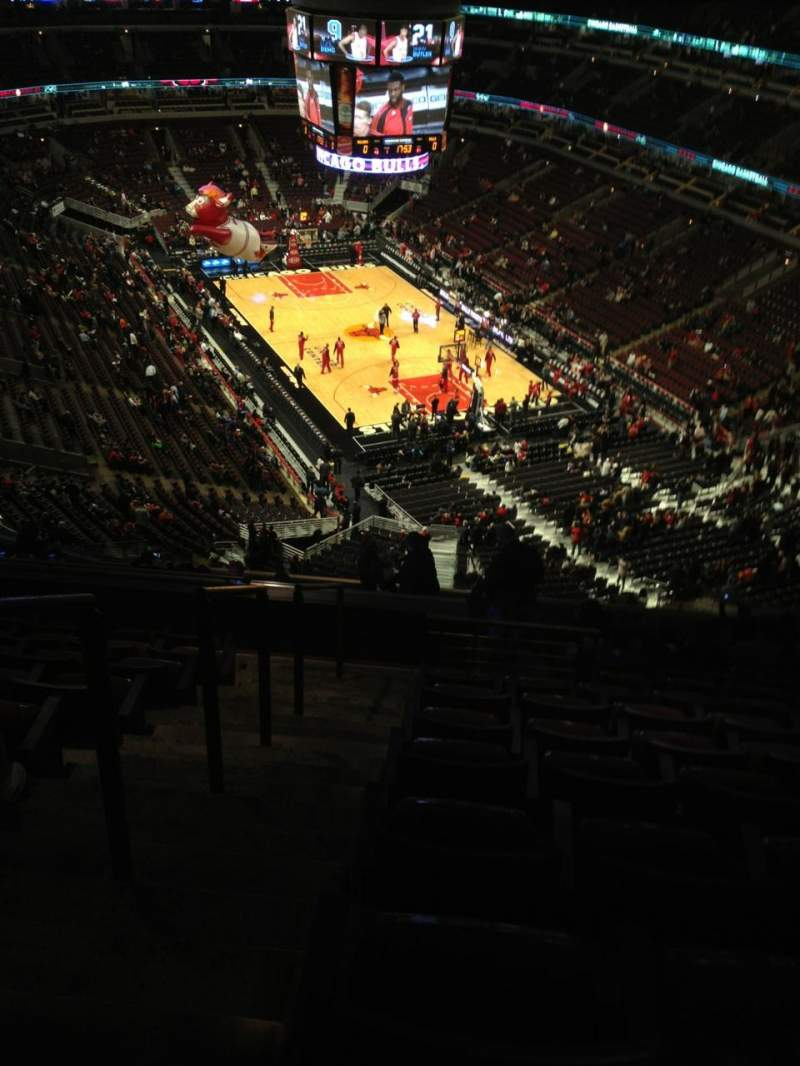 Seating view for United Center Section 311 Row 16 Seat 23
