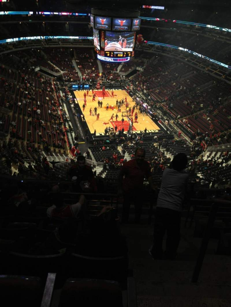 Seating view for United Center Section 311 Row 14 Seat 1