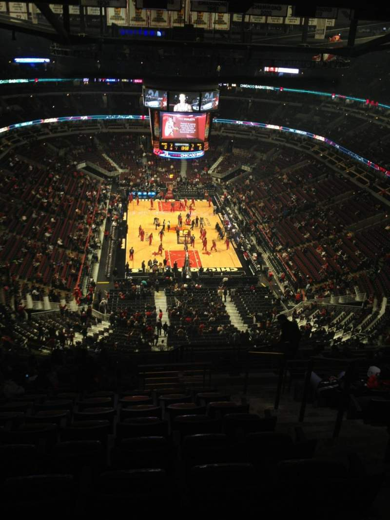 Seating view for United Center Section 310 Row 17 Seat 2