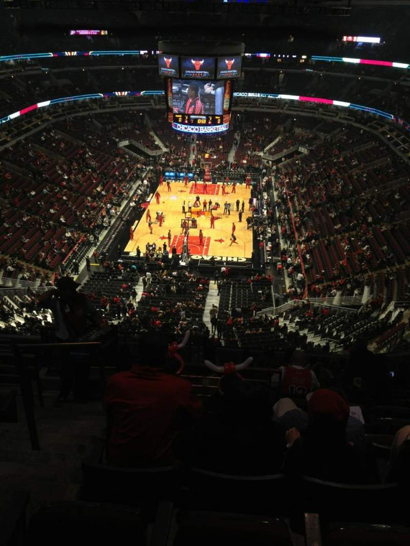 Seating view for United Center Section 308 Row 14 Seat 21