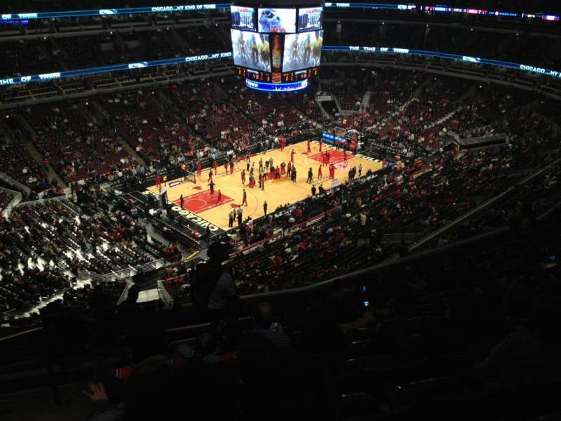 Seating view for United Center Section 304 Row 14 Seat 22