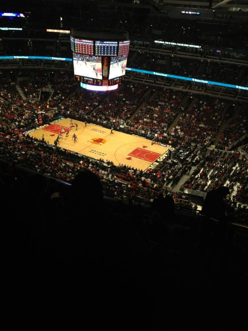 Seating view for United Center Section 332 Row 16 Seat 1