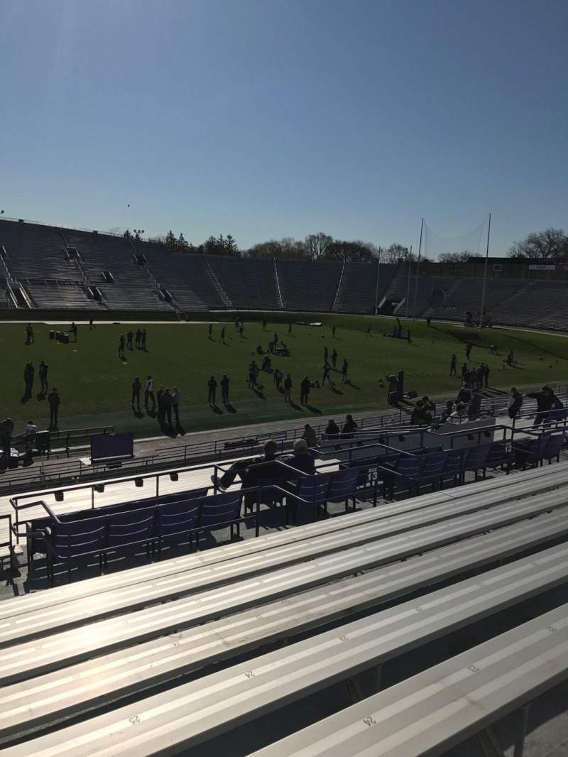 Seating view for Ryan Field Section 129 Row 30 Seat 27