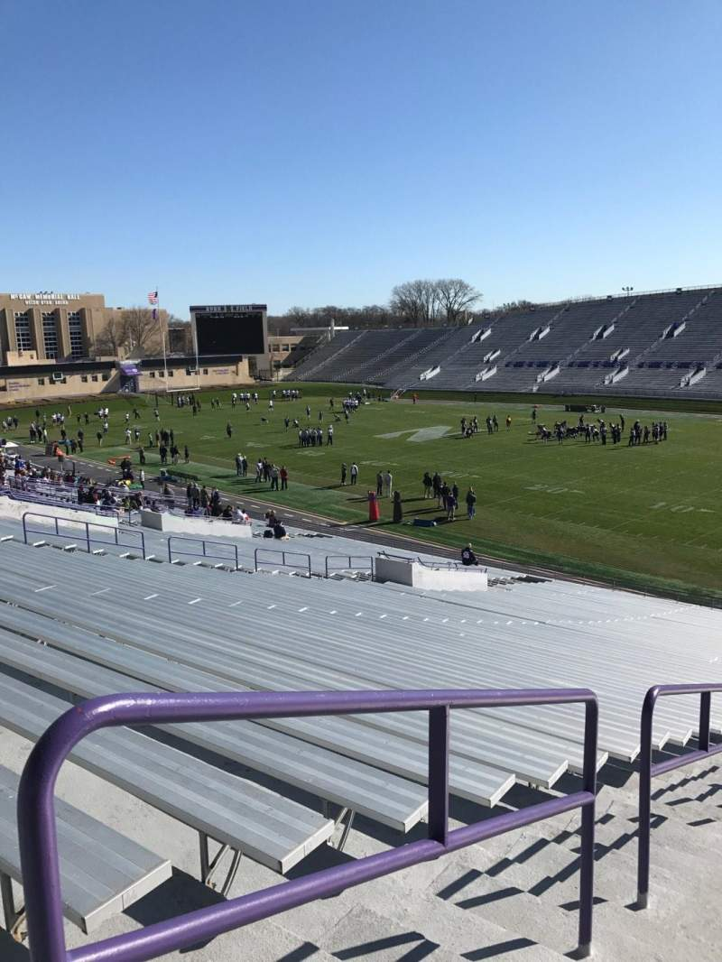 Seating view for Ryan Field Section 124 Row 46 Seat 26