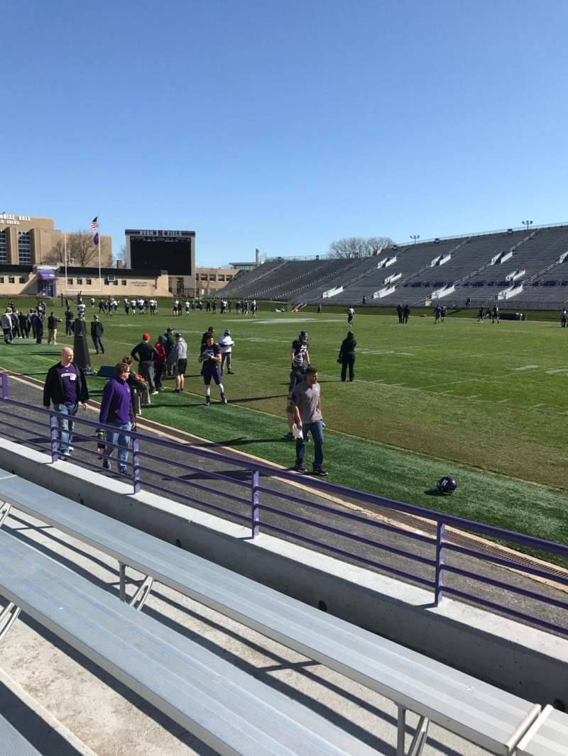Seating view for Ryan Field Section 125 Row 4 Seat 13