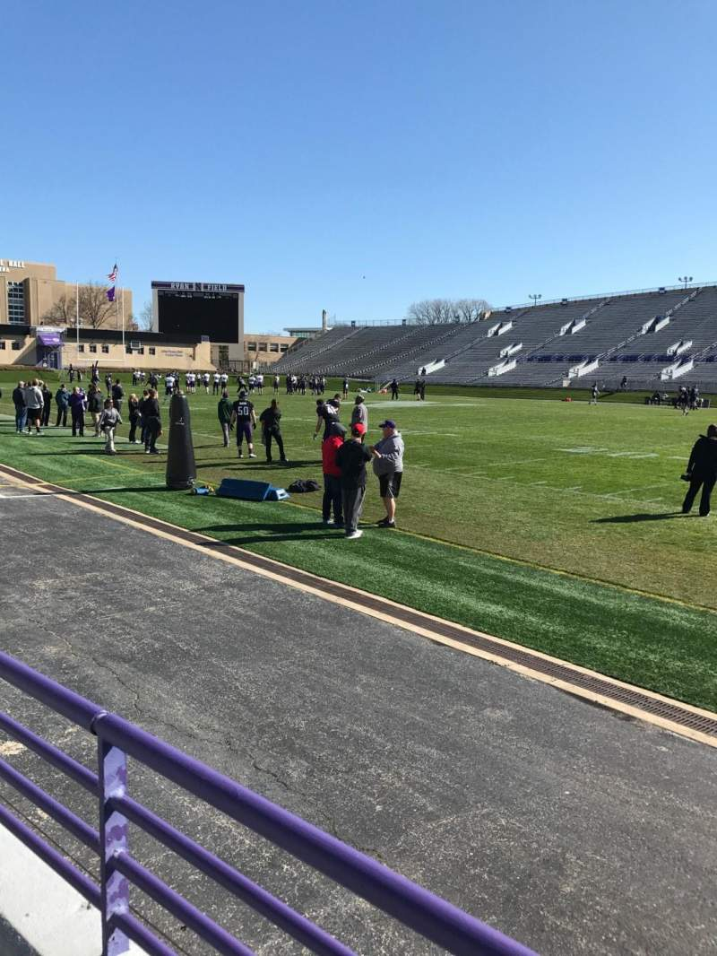 Seating view for Ryan Field Section 126 Row 1 Seat 3
