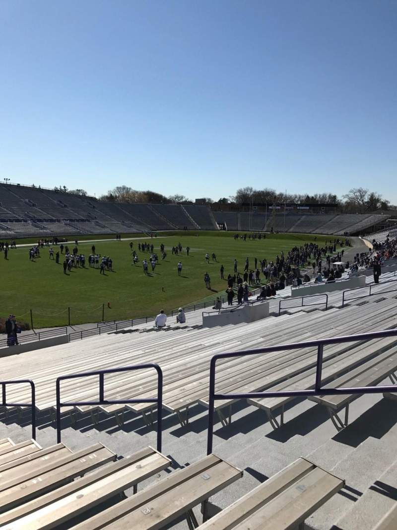 Seating view for Ryan Field Section 136 Row 33 Seat 5