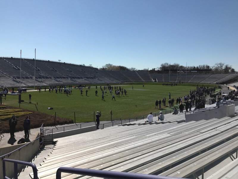 Seating view for Ryan Field Section 136 Row 24 Seat 1